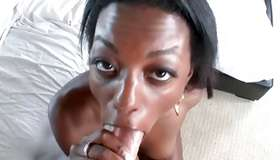 Pitch-black crazed babe is smashed with pleasant rod