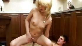 Steamy blond chick looks astounding as long as the lass is riding on the raw dick